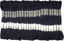 24 Colore Nero Anchor Punto Croce Cotone Ricamo Filo Filo Interdentale