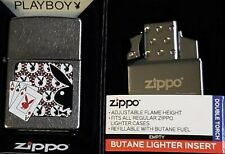 Zippo Torch Pinup Girl PLAYBOY RARE DISCONTINUED 2009 Poker Butane Insert Double