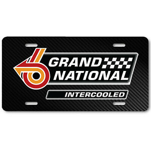 Grand National Buick Regal Intercooled Vehicle Vanity License Plate Auto Tag