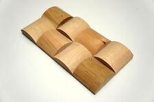 SAMPLE - Wall Cladding Solid Wood Paneling Roundwood 3D Vintage Oak Birch Alder