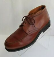 Aerosoles Mens Ankle Boots Brown Leather Apron Toe Lace Up Shoes Italy Sz 11.5D