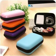 Carry Pouch Travel Headphone Bag Cable Accessories Portable Case Storage Box
