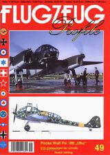Focke Wulf Fw 189 Uhu Nahaufklärer der Luftwaffe Flugzeug Profile 49 Luftfahrt