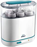 Avent 3-in-1 Electric Steam Baby Bottle Sterilizer, BPA-Free