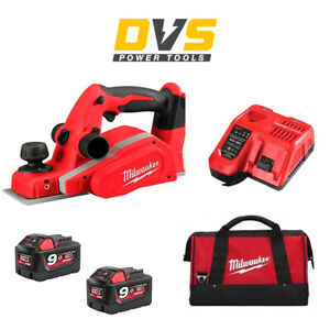 Milwaukee M18BP-018V Li-ion 82mm Cordless Planer 2x 9Ah Batteries Charger