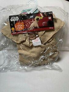 "New Disney Brand Star Wars Yoda Dog Costume Size Small 14"" Chest Halloween"