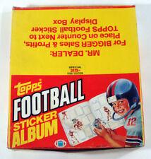 1981 Topps Football Sticker Album Display Box (12 Albums)