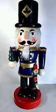 "Decorative Wood Nutcracker Christmas Soldier Figurine w/ Tree & Sword 13.5"""
