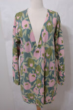 ANTHROPOLOGIE Lambswool Floral Print Long Sleeve Sweater Dress L