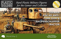 15mm Easy Assembly Pak 40 and Raupenschlepper Ost WW2G15004 Unpainted Miniatures