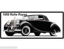 1950 Rolls Royce Silver Wraith  Refrigerator / Tool Box Manget