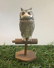 Japan Kaiyodo Northern white faced owl on stand Bird PVC Mini Figurine Figure