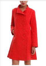 New Desgiual Abrig- Vercout  A-Line Coat Tomato Red Size 42 UK-AU12-14