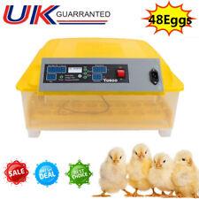 48 Digital Egg Incubator Hatcher Automatic Turning Temperature Chicken 220V