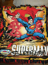 HANDMADE FLEECE THROW BLANKET  SUPERMAN