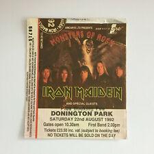 Donington Monsters of Rock 1992 concert Ticket Stub Iron Maiden