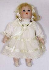 Porcelain Bisque Doll Lace Dress Small