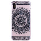 Shockproof TPU Gel Mandala Printed Pattern Soft Cover Case For Apple iPhone X UK