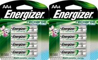 8 Energizer Recharge Power Plus AA 2300mAh Rechargeable Pre-Charged Batteries
