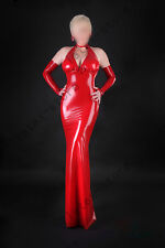 580 Latex Rubber Gummi Evening Long Dress one piece skirt gloves customized .4mm