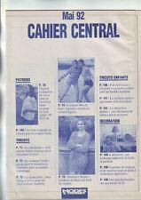 patron cahier central modes et travaux de mai 92: tenue poupée-chemisier-pull...