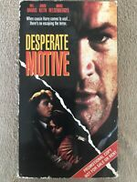 Desperate Motive VHS MEL HARRIS DAVID KEITH DRAMA THRILLER MYSTERY COLUMBIA TRI