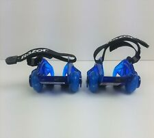 Razor JETTS Heel Wheels DLX Blue Real Sparking Action Light Up Roll n Spark
