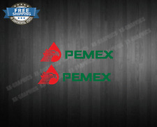 """Pemex Mexico 2X 8"""" Gas Station Vinyl RED/GREEN Decal Sticker"""