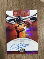 🔥 10?? Courtland Sutton Broncos 2018 Panini Rookie of Year Contender Auto /199