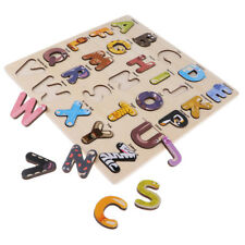 Jeu de lettres en bois amusant puzzle alphabet puzzle lettre apprendre le