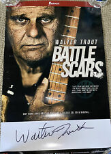 Walter Trout Battle Scars Poster Signed/Autographed! BLUES