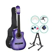 """Alpha 34"""" 6 String Acoustic Guitar with Capo for Children - Purple"""