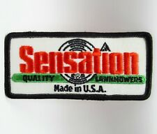 """Vintage Patch - Sensation Lawnmowers - Embroidered - 4 1/2"""" - Collectible"""
