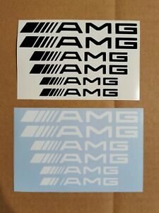 AMG Bremssattel Aufkleber - 6x - hitzebeständig - schwarz o. weiss - 12,10,8 cm