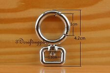 Lobster Clasps Clips Claw purse hooks Gate hook silver 1/2 inch 6pcs CK76