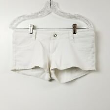 Vanilla Star Womens White Jean Shorts Large L Measures 31 Solid Low Rise Booty