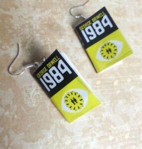 Mini Book Earrings George Orwells 1984