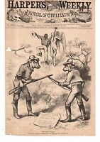 1879 Harper's Weekly August 30 - Nast - Negroes win when Southerners fight each