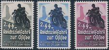 Stamp Replica Label Germany 0206 WWII Motorcycle Reichzielfahrt MNH