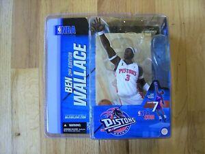 NBA McFARLANE SERIES 7 BEN WALLACE DETROIT PISTONS VARIANT, CHECK DISCRIPTION