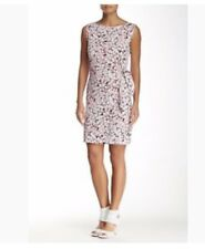 NWT DVF New Della Faux Wrap Dress In Garden Daisy Pink. Size 6