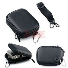 Universal Digital Camera Hard Case Carrying Strap Pocket Camcorder Black Cover