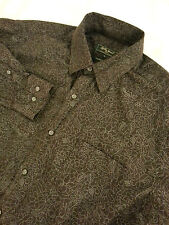 BOBBY JONES COLLECTION Men's Long Sleeve Italy Woven Button-Front Shirt Size M