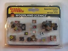 Woodland Scenics Ho #1855 Assorted Crates (9 groupings)