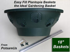 "2 X 18"" EASY FILL HANGING WALL PLANTER BASKET (GREEN)"