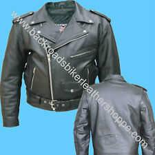 MENS COWHIDE LEATHER CLASSIC MOTORCYCLE BIKER JACKET
