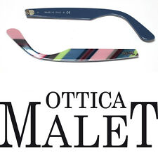 ASTE RICAMBIO RAY BAN 2143 WAYFARER TEXT ON BLUE SIDE ARMS TESTO SU BLU STRIPED