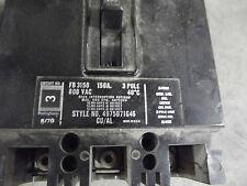 Westinghouse  150 Amp Breaker FB3150   3 POLE 600VAC