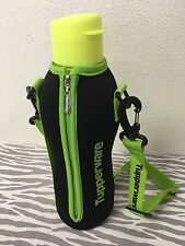 Tupperware Eco Water Bottle w/ Flip Top Carrier 1L Neon Yellow New