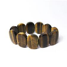 Link Stretchy Bracelet Gorgeous Tigereye Oval